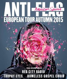 Anti-Flag (USA) + Red City Radio + Trophy Eyes + Homeless Gospel Choir 30. 10. - Lucerna